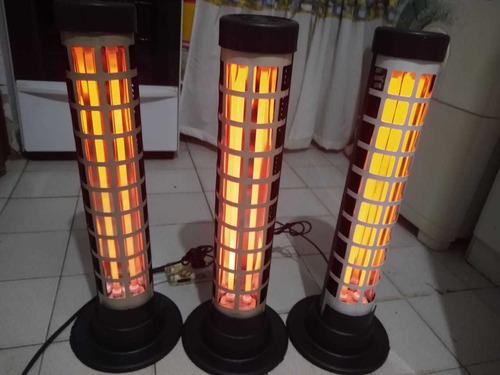 estufa eléctrica cuarzo 2 velas