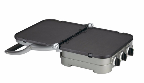 estufa electrica cuisinart gr-4n 5-in-1 griddler, silver