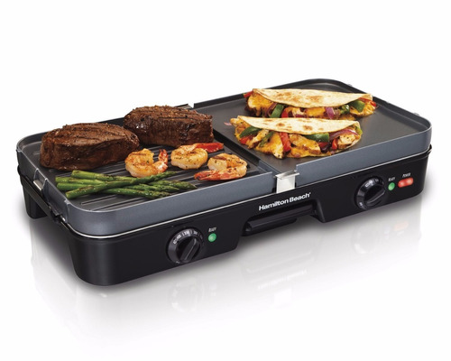 estufa electrica hamilton beach 38546 3-in-1 grill/griddle