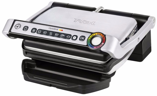 estufa electrica t-fal gc702 optigrill stainless steel indoo