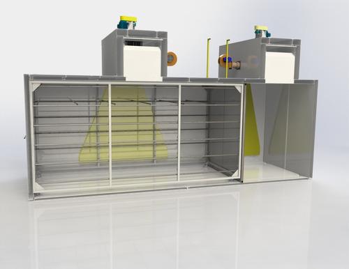 estufa eletroestática 7 metros - apenas projeto