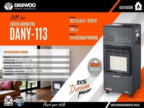 estufa garrafera pantalla infrarroja 3612 cal con regulador