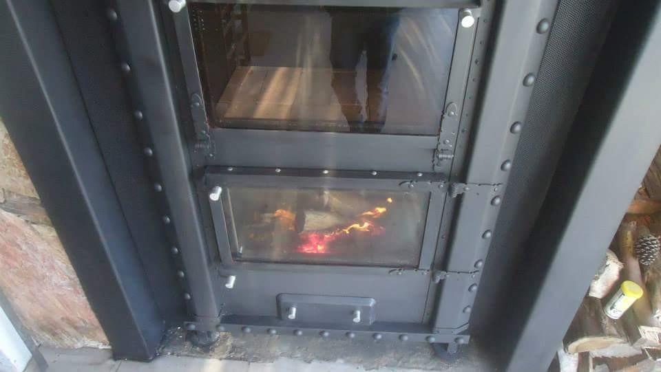 Estufa horno artes en calor calefaccion vidrio horno u s for Hogar a lena esquinero