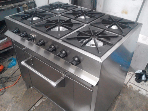 estufa industrial 6 quemadores y horno