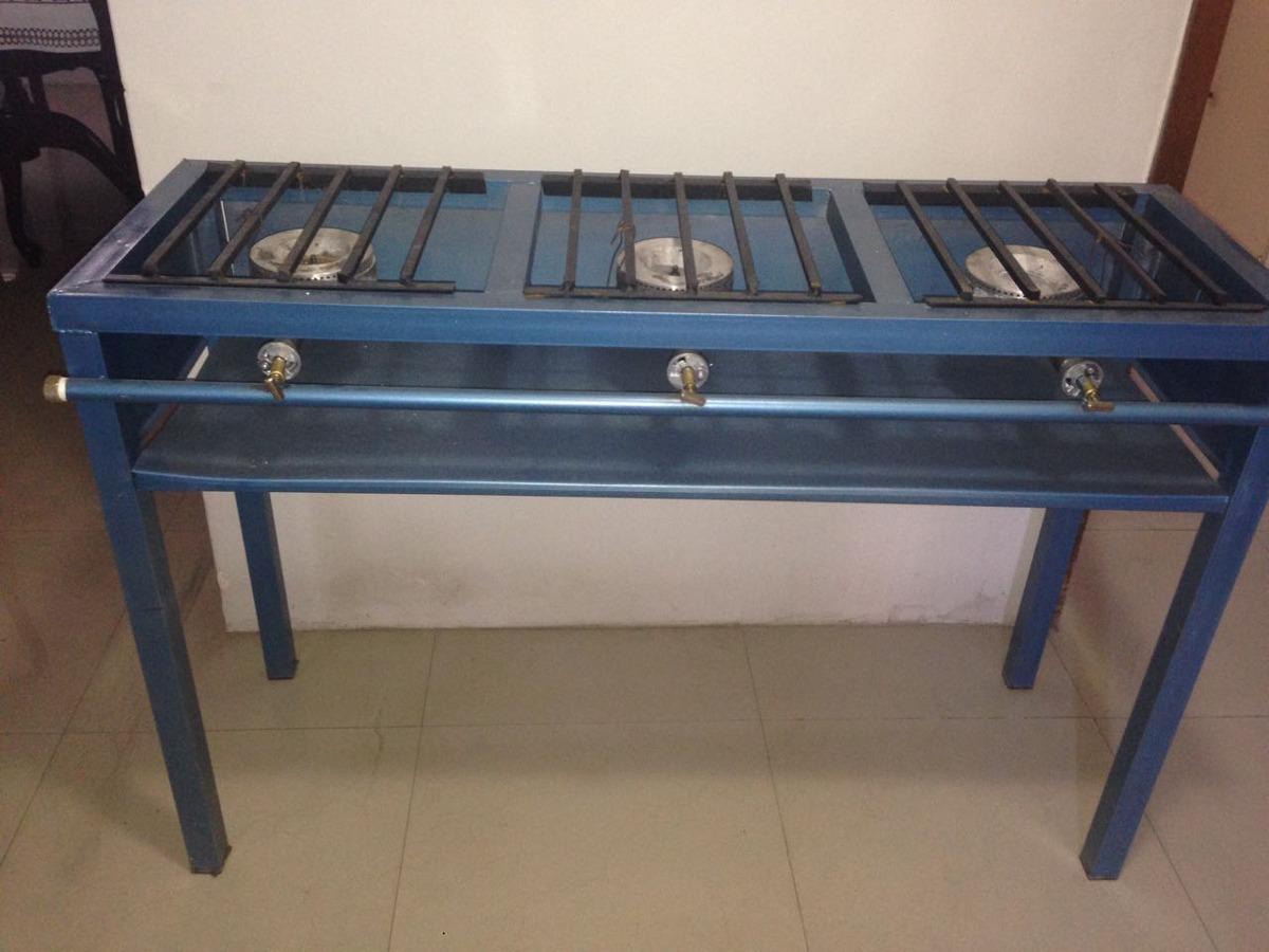 Estufa industrial con 3 quemadores y parrilla 1 for Cuanto vale una estufa industrial