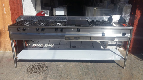 Estufa industrial multiple plancha hornillas asador for Estufa industrial acero inoxidable
