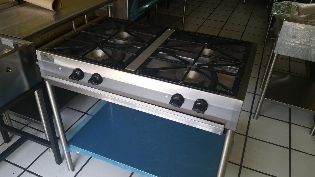 Estufa industrial parrilla hornillas de 4 quemadores for Estufa industrial precio