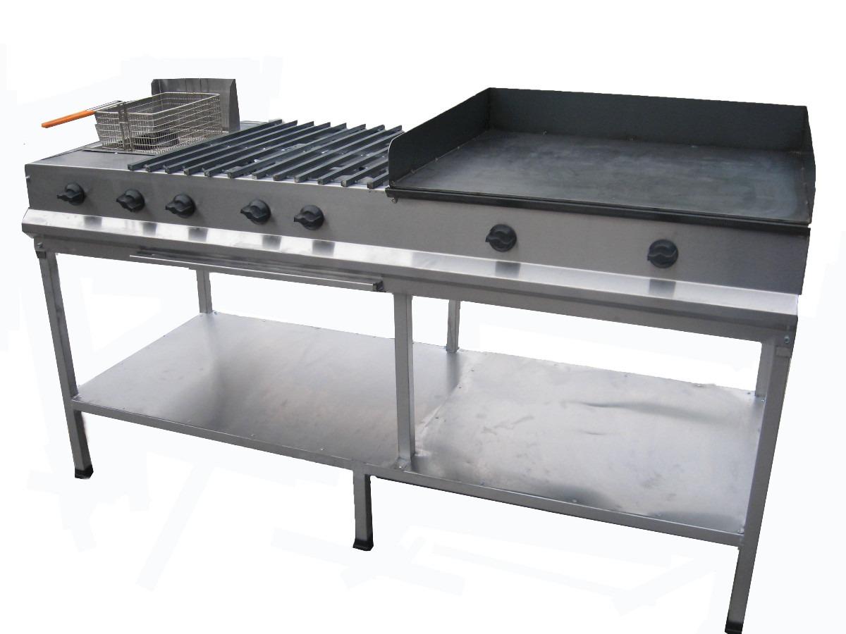 Estufa industrial plancha 4 quemadores freidora 7 900 for Estufa industrial precio
