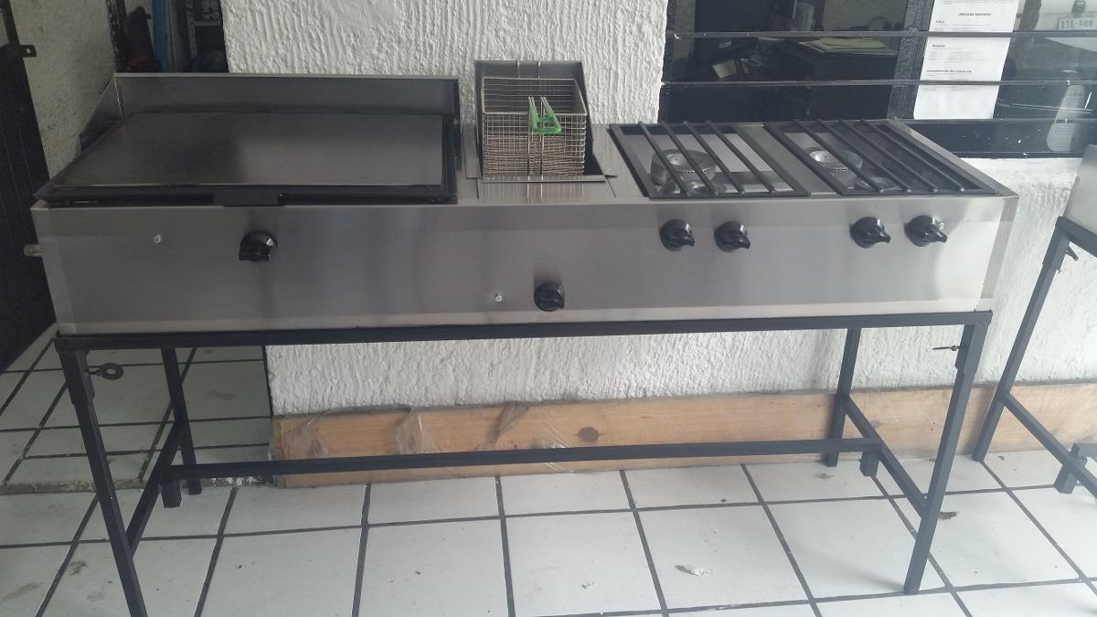 Estufa industrial plancha hornillas freidora quemadores for Cuanto vale una estufa industrial