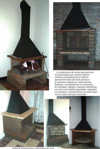 Estufa le a campana metal y ladrillos instalada - Tipos de estufas de lena ...