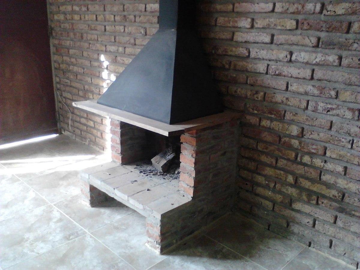 Estufa le a campana metal y ladrillos instalada - Como adaptar una estufa de lena a pellets ...