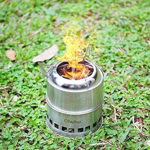 estufa ohuhu portátil de acero inoxidable de leña que acamp