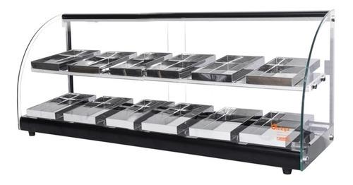 estufa p/ salgados elegance  - dupla 12 bandejas r$ 683,91