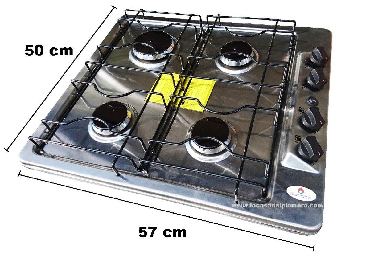 Estufa para empotrar acero inoxidable encendido for Estufas para empotrar