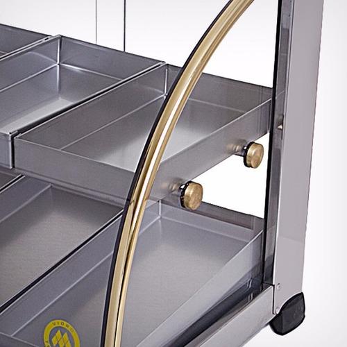 estufa para salgados 6 bandejas dupla com inmetro 110/220 v