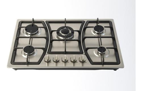 estufa parrilla empotrable acero inoxidable 5 quemadores gas