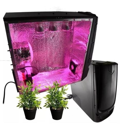 estufa pc grow cultivo indoor com filtro e ventilação