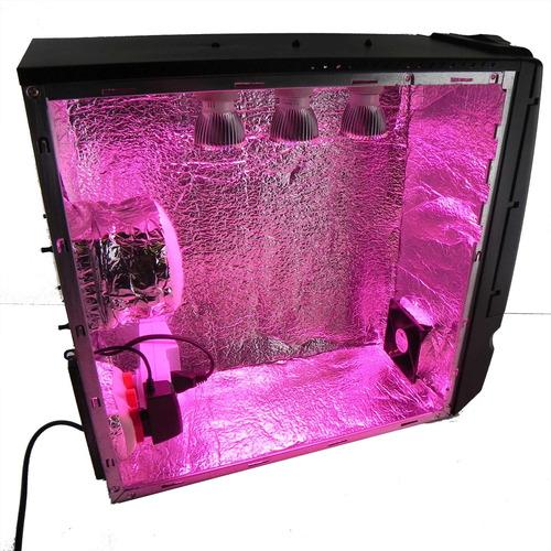 estufa pc grow cultivo indoor led full spectrum com filtro