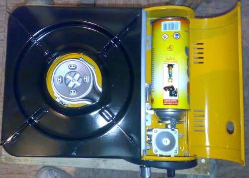 estufa portatil de una hornilla de gas  para dia campo op4