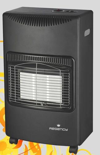 estufa regency super gas 3 paneles, incluye válvula