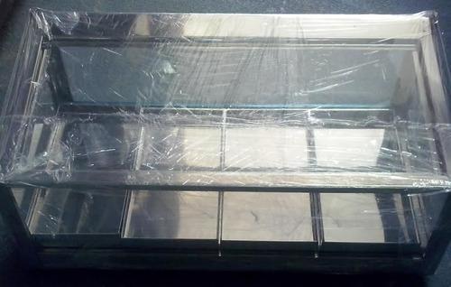 estufa reta simples inox 4 bandejas 110 ou 220v salgados
