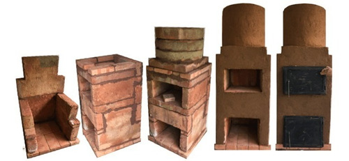 estufa rusa modular (con horno) de alto rendimiento.