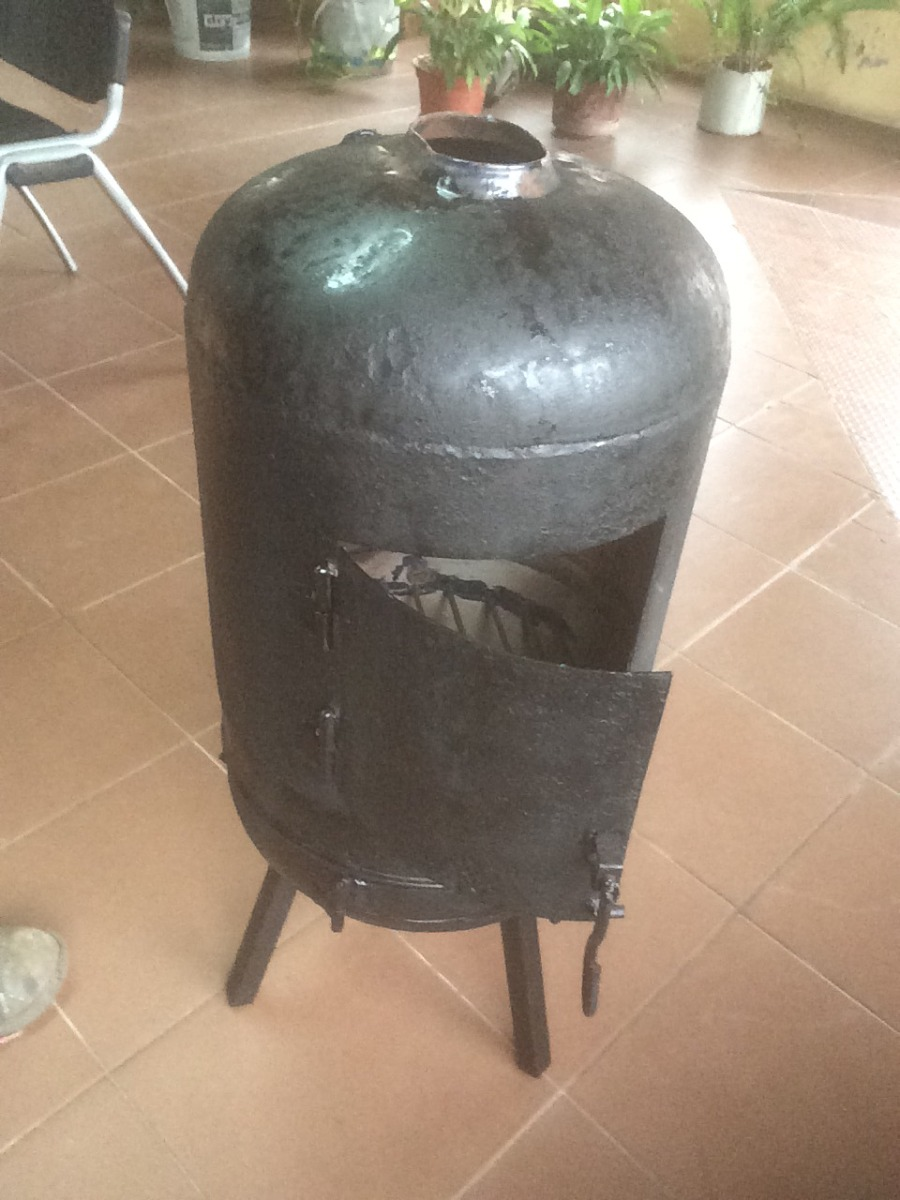 Estufa salamandra le a calefaccion en mercado for Estufa lena salamandra