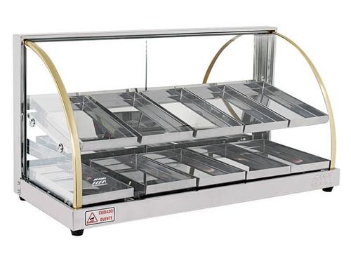 estufa salgados 10 bandejas inmetro vidros temperados w10bd
