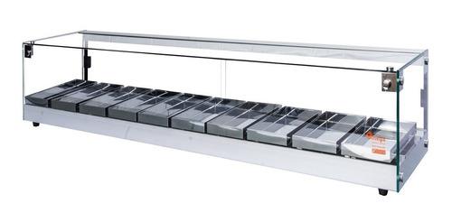 estufa salgados 1,50 mt - marca ômega- linha luxo- com led