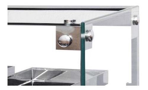 estufa salgados vidro plano - 10 bandejas marca omega c/ led