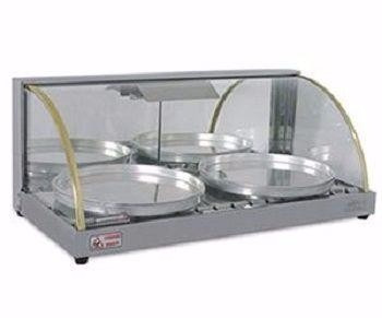 estufa vidro curvo para 02 portas pizzas 83x41x36
