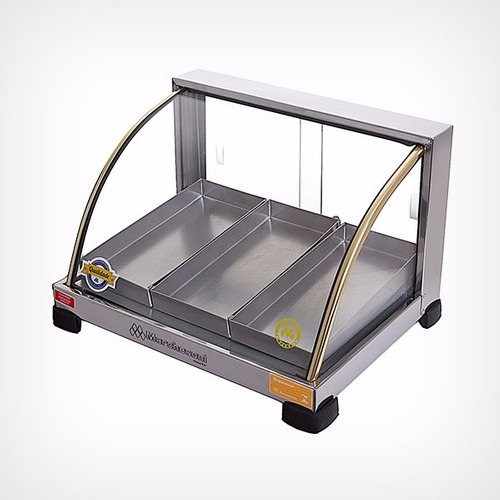 estufa vitrine expositora para salgados 3 bandeja 110 ou 220