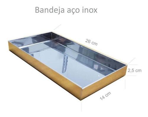 estufa vitrine p/ salgados dupla 4 bandejas retilínea - ouro