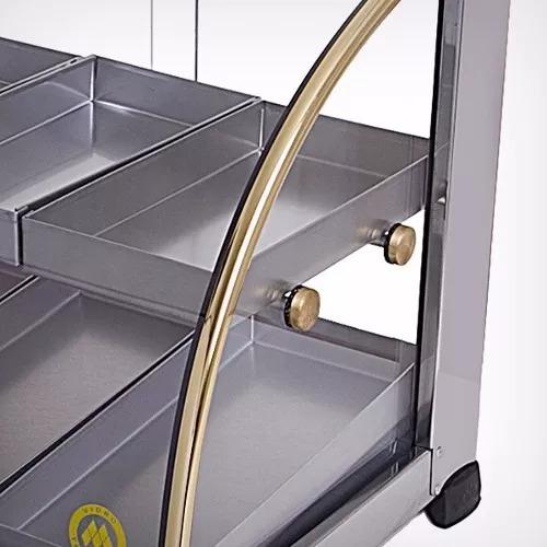 estufa vitrine para salgados 10 bandejas inmetro