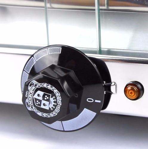 estufa vitrine  para salgados 3 bandejas inmetro