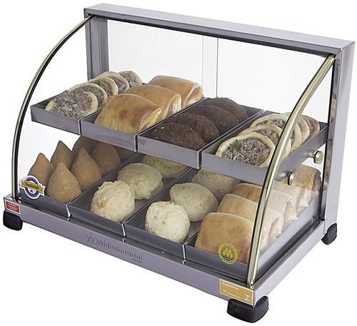 estufa vitrine para salgados 8 bandejas inmetro 110 ou 220v