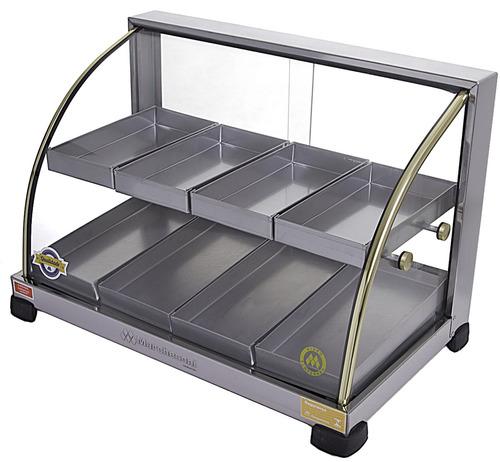 estufa vitrine para salgados 8 bandejas inmetro