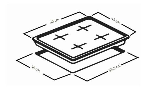 estufas - cubierta de empotrar a gas mabe cmg6044la-0 geb-jb