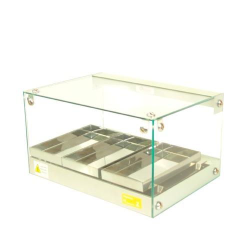 estufas de salgados  03  bandejas  vidro reto