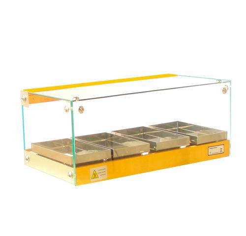 estufas de salgados  04  bandejas  vidro reto