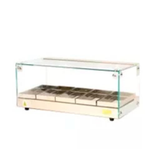 estufas de salgados  05  bandejas  vidro reto