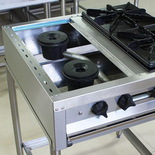 estufas industriales acero inoxidable con base, 4 quemadores
