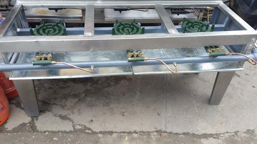 estufas industriales de 3 y 4 anafe en acero inoxidable!!!