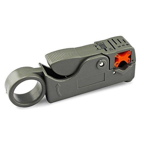 Para la compresi/ón del cable de herramientas para conectores de montaje RG6 Stripper Con 20x conectores F de compresi/ón