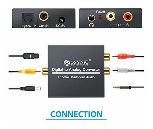 esynic dac de digital a analógico convertidor de audio digit