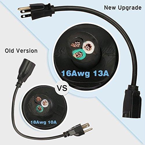 etekcity 5 paquete power extension cable cable outlet saver