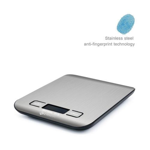 etekcity báscula de digital 5 kg, plata, acero inoxidable