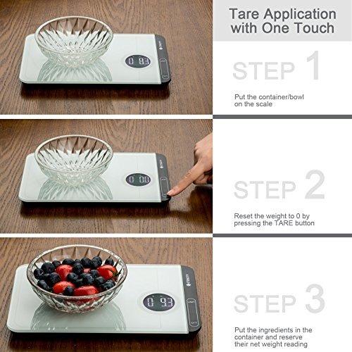 etekcity digital touch kitchen scale multifunción food sca