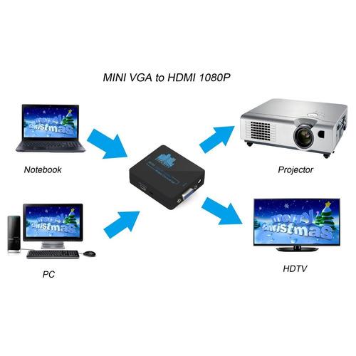 etekcity mini compact video vga audio a hdmi 1080p converter