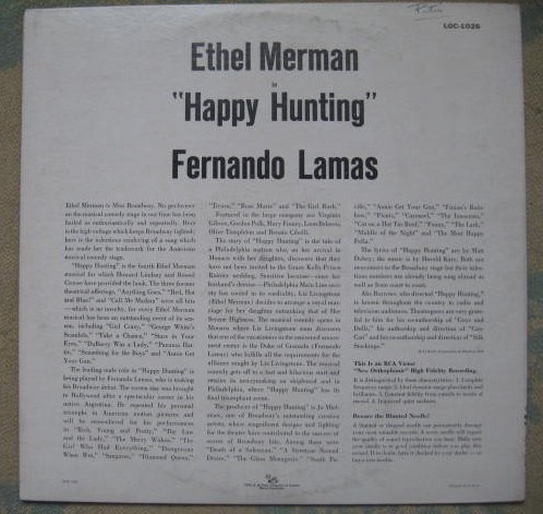 ethel merman, fernando lamas - happy hunting (bso) (rca vict